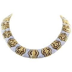 Italian Diamond Two-Tone Gold Necklace