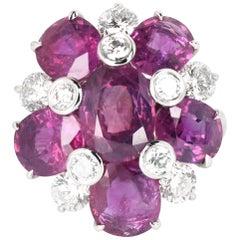 Kashmir Purple Sapphire and Diamond Ring