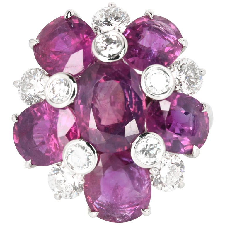 Kashmir Purple Sapphire and Diamond Ring 1