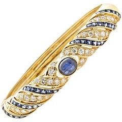Diamond Sapphire Gold Lilly Bracelet