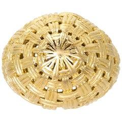 Vintage 18 Karat Yellow Gold Bombe Ring