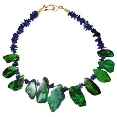 Blue Lapis Lazuli and Green Turquoise Necklace