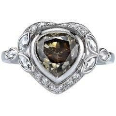 Unique Pear Shape Diamond Engagement Ring