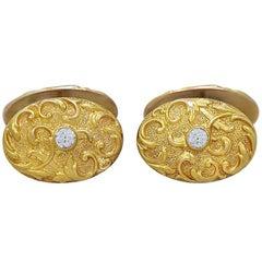 Diamond Art Nouveau Cufflinks
