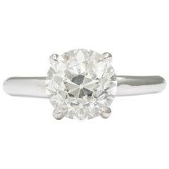 Donna Vock 2.31 Carat GIA Certified Old European Diamond Engagement Ring