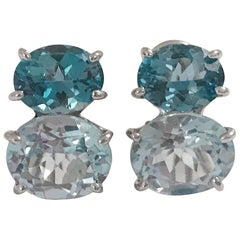 Medium GUM DROP™ earrings with Two Toned Blue Topaz