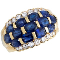 Bodacious Blue Sapphire and Diamond Band