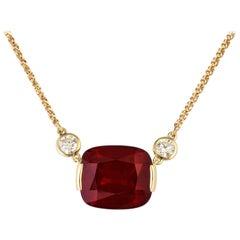 16.65 Carat Rhodolite Garnet and Diamond Donna Vock Necklace
