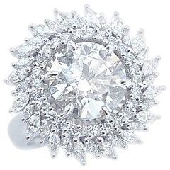 5.18 Carat Round Diamond Faith Jewels