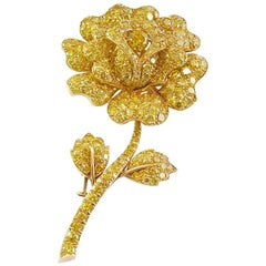 Van Cleef & Arpels Yellow Diamond Flower Brooch