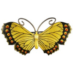 Antique Edwardian Silver Butterfly Brooch Makers JAS, 1916