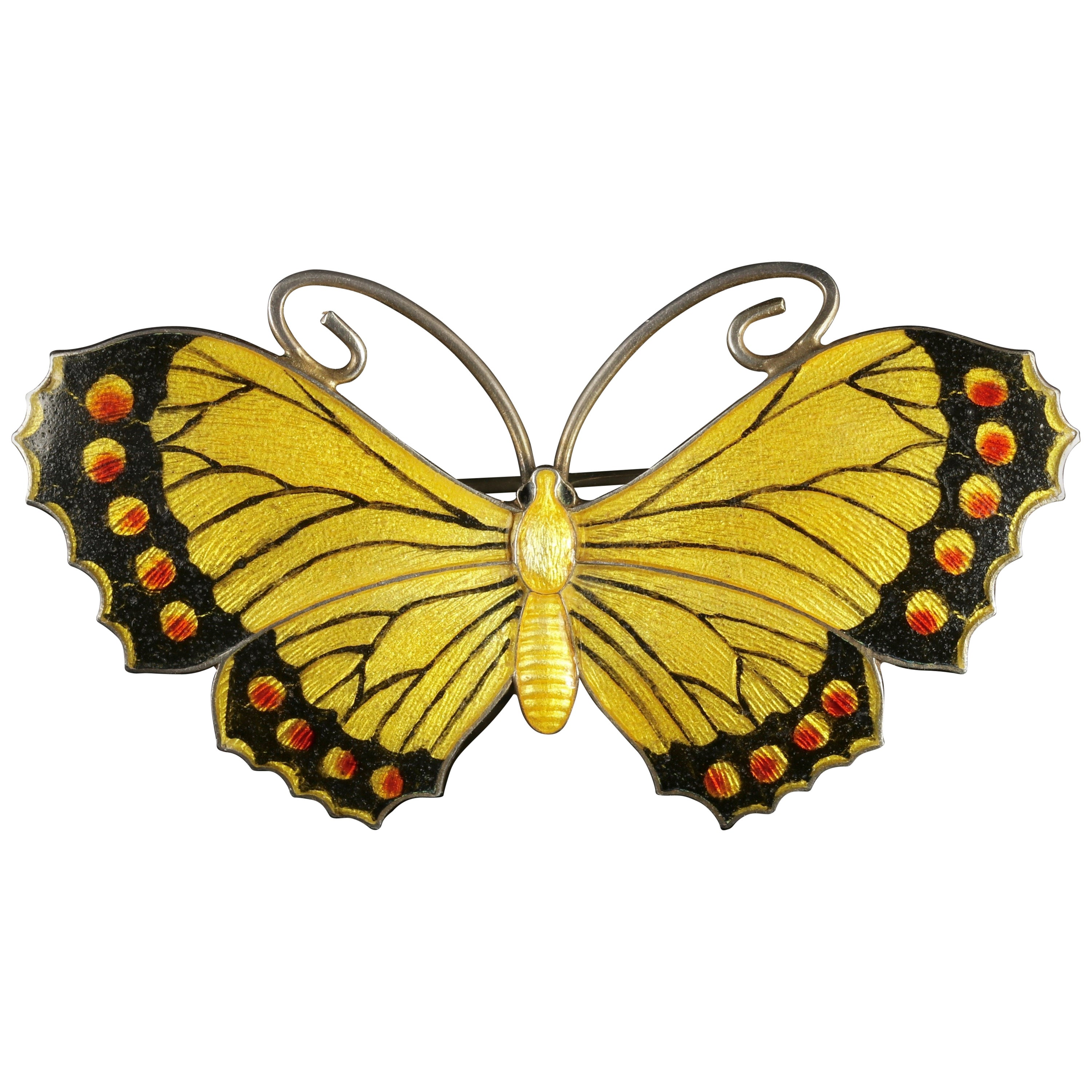 Antique Edwardian Silver Butterfly Brooch Makers JAS, 1916 at 1stdibs