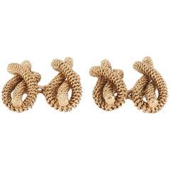 1950s Tiffany & Co.18 Karat Gold Knot Cufflinks