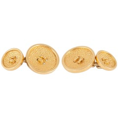 Pomelatto ,18ct Gold Button Cufflinks of good weight and colour,c,1980