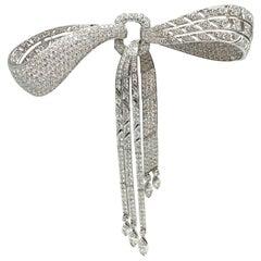 Art Deco Diamond Ribbon Brooch