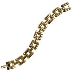 Modernist Yellow Gold Link Bracelet