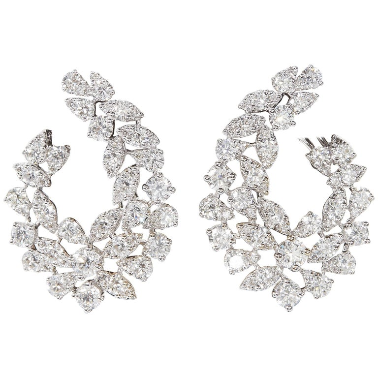 Multi Shape Diamond Swirl Earrings