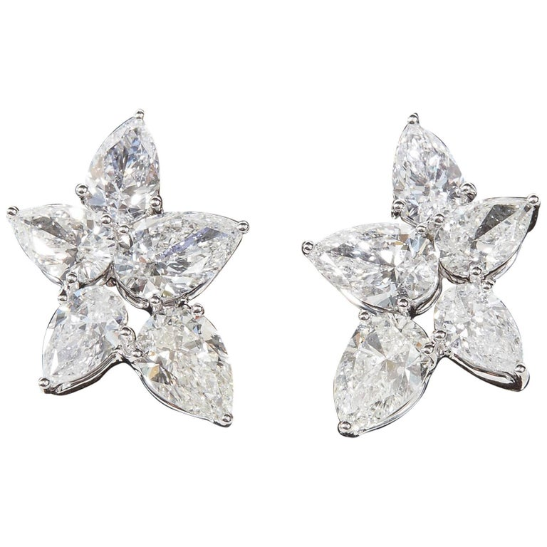 9fda780c9 Diamond Cluster Earrings For Sale at 1stdibs