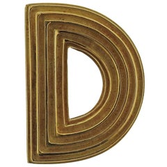 Christopher Walling Ridged Logic Gold Brooch Pin