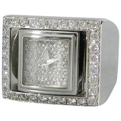 Piaget Limelight White Gold and Diamond Reversable Watch Ring