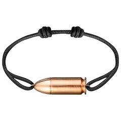 Akillis Bang Bang Charm Bracelet 18 Karat Rose Gold Cotton Cord