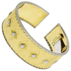 Gold Diamond Cuff Bracelett by Buccellati