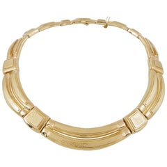 David Webb Gold Collar Necklace