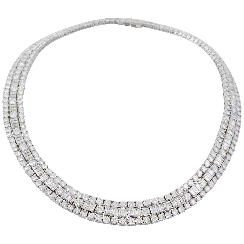David Webb Diamond Platinum  Necklace