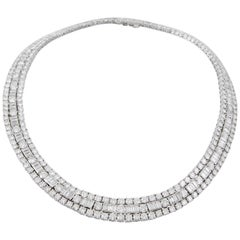 David Webb Diamond Platinum  Necklace