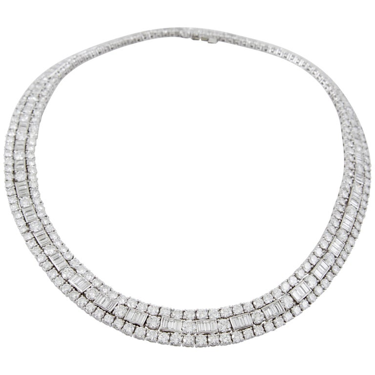 David Webb Diamond Platinum  Necklace 1