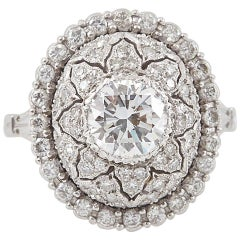 Mario Buccellati Platinum and Diamond Ring