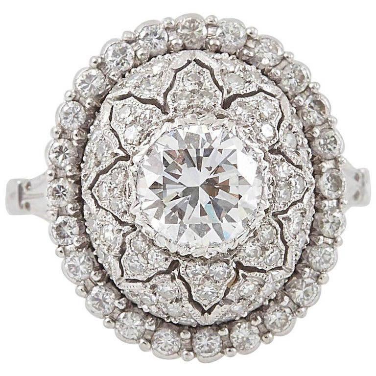 Mario Buccellati Platinum and Diamond Ring