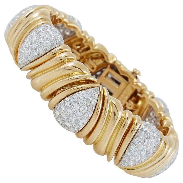 David Webb Gold Diamond Bracelet
