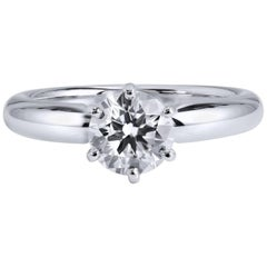 GIA CERTIFIED 1.00 Carat Diamond Solitaire Engagement Ring