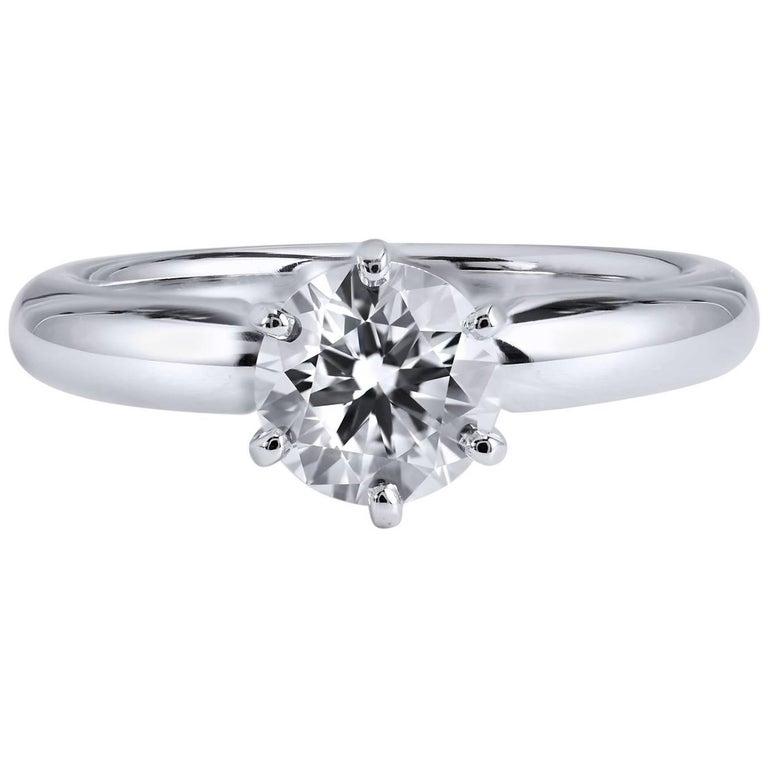 H & H 1.00 Carat Diamond Solitaire Engagement Ring