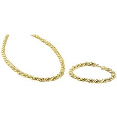 White and Yellow Gold Jewelry Suite