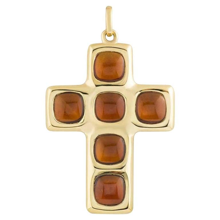Pomellato citrine cross pendant for sale at 1stdibs pomellato citrine cross pendant for sale aloadofball Gallery