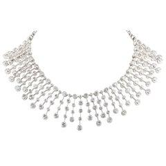 Stunning Cartier Diamond Platinum Necklace