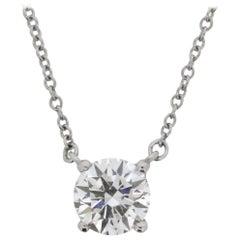 Platinum Tiffany & Co. Diamond Solitaire Necklace