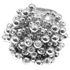 Cartier Perruque Paris Nouvelle Vague Diamond White Gold Ring