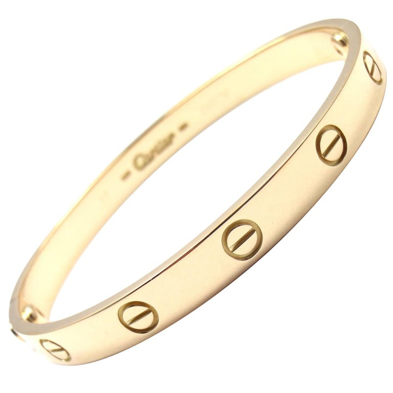 Cartier Love Yellow Gold Bangle Bracelet 1