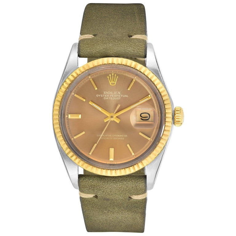 Rolex Stainless Steel and Yellow Gold Datejust Automatic Wristwatch, 1970s  1