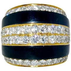 Diamond Onyx Gold Ring