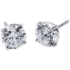 Brilliant Diamond Studs 4.95 Carat