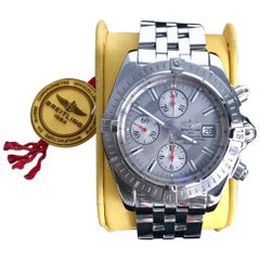 Breitling Stainless Steel Limited Edition Chronomat Evolution Wristwatch