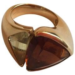 Magic Angle Ring Citrine Gold