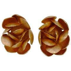 Kayo Saito Cluster 18 Karat Rose Gold Stud Earrings