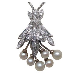 Retro Daimond Pearl Gold Necklace