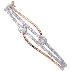 Diamond Bangle Two-Tone 2.00 Carat