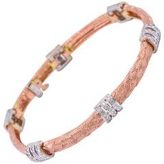 Diamond Three-Bar Gold Bracelet